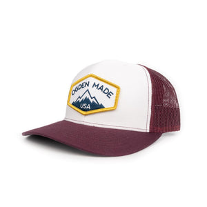 Headwear White / Maroon Ridge Hat