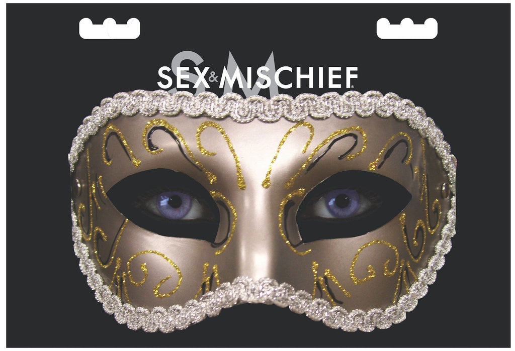 Grey Masquerade Mask Mask