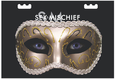 Image of Grey Masquerade Mask Mask