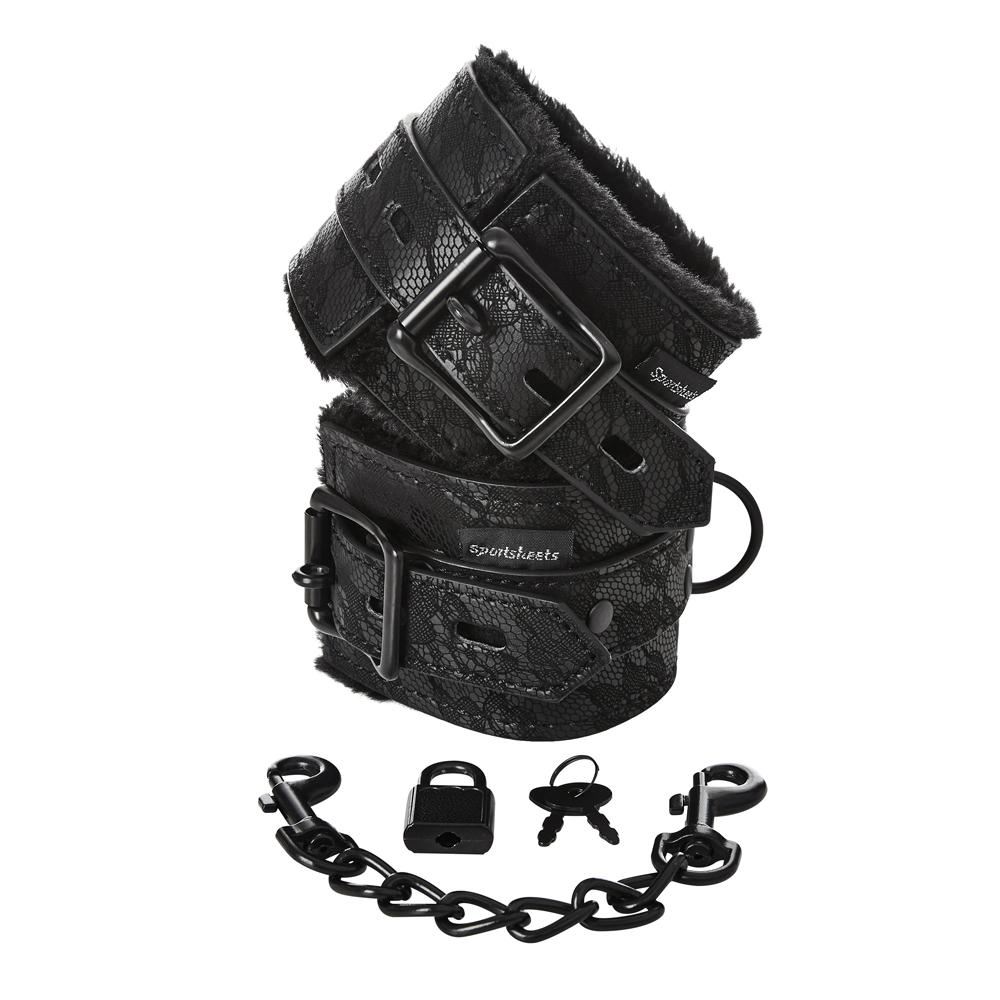 Lace Fur Lined Hand Cuffs Cuffs
