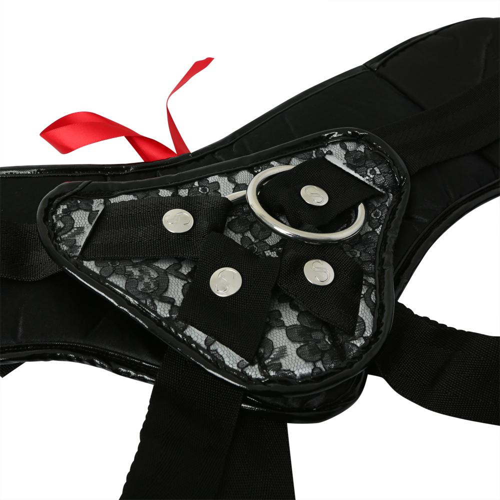 Plus Size, Grey & Black Lace Strap On Strap Ons