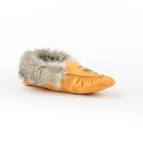Citrouille - Mocassin bordé de fourrure|Pumpkin - Lined moccasins with fur