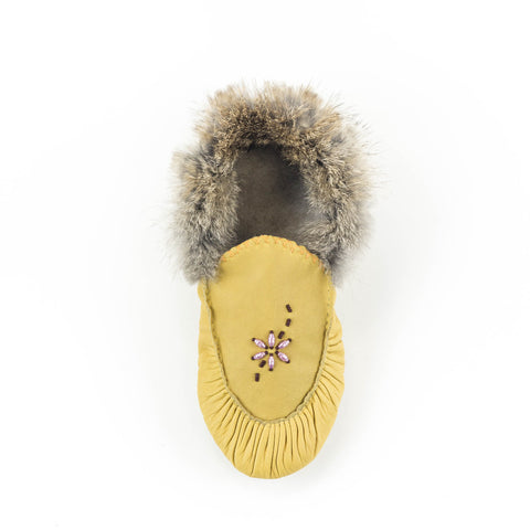 Couleur naturelle - Mocassin bordé de fourrure|Natural color - Lined moccasins with fur
