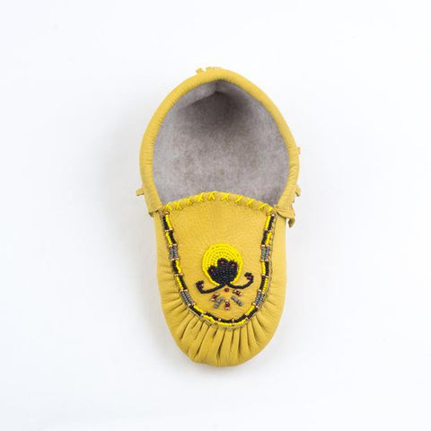 Cuir de cerf naturel - Mocassin d'intérieur|Natural deer leather - Indoor Moccasins
