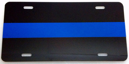 Blue Line License Plate