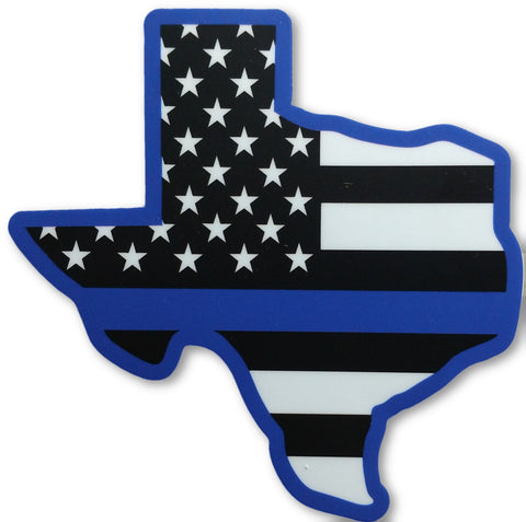 Texas US State Blue Line Decal - FrontLine Designs, LLC