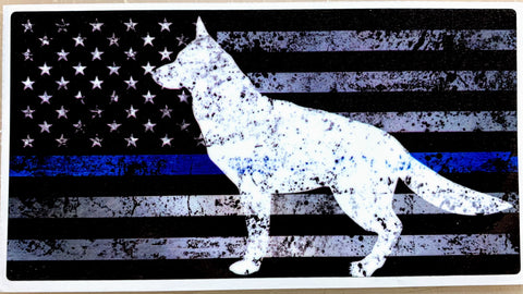 US Blue Line K-9 Shepherd Decal