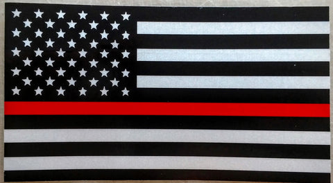 US Flag Red Line Reflective Decal