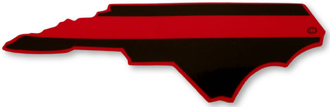 North Carolina State Red Line Decal - FrontLine Designs, LLC