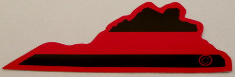 Virginia State Red Line Decal - FrontLine Designs, LLC