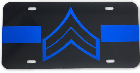 Corporal License Plate - FrontLine Designs, LLC