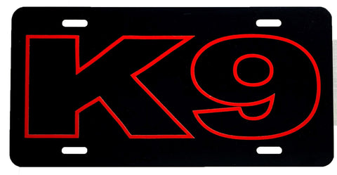 K-9 Outline License Plate