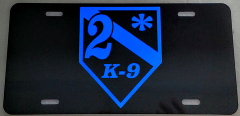2* K-9 Reflective License Plate