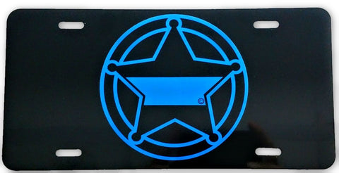 5-Point Sheriff's Deputy Badge License Plate - FrontLine Designs, LLC