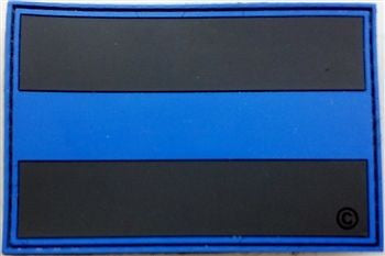Blue Line 2 dimensional PVC patch - FrontLine Designs, LLC