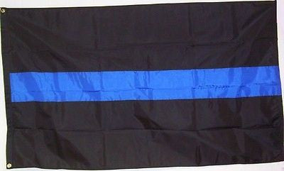 Blue Line X-Large Coffin Flag - FrontLine Designs, LLC