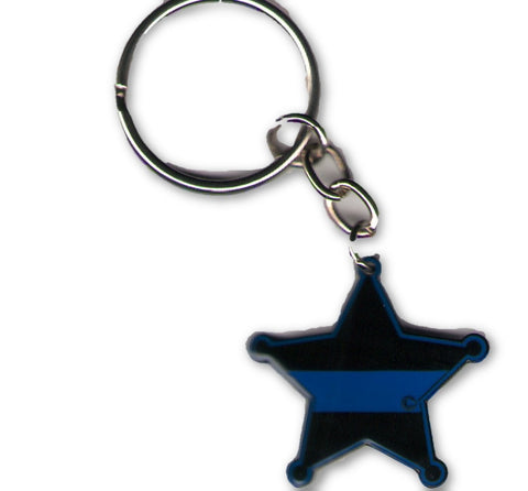 5-Point Sheriff's Badge Keychain