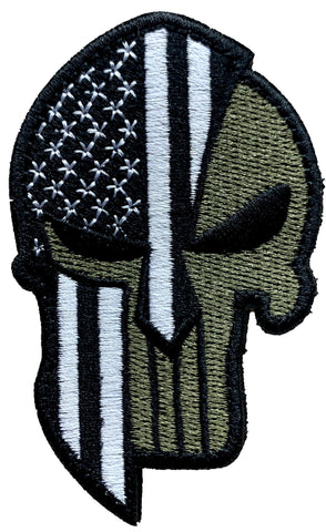US Flag Punisher Spartan Patch