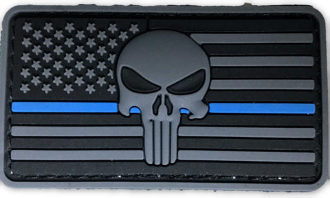 US Flag Punisher 2 dimensional PVC patch - FrontLine Designs, LLC