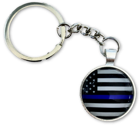 Thin Blue Line US Flag Key Chain - FrontLine Designs, LLC