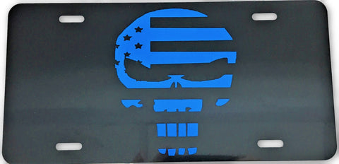US Flag Defender License Plate - FrontLine Designs, LLC