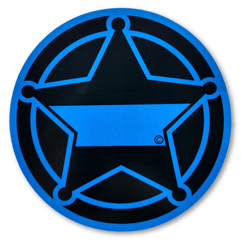5-Point Blue Line Sheriff's Deputy Decal - FrontLine Designs, LLC