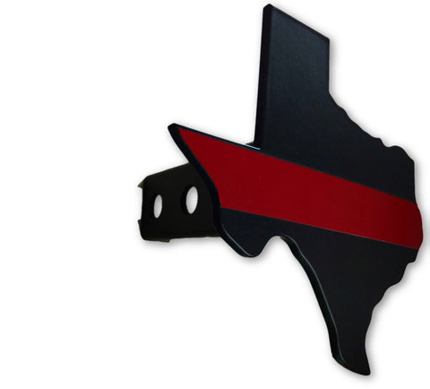 Texas Red Line Hitch Cover - FrontLine Designs, LLC