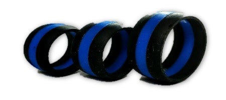 Blue Line Silicone Ring X-Large - FrontLine Designs, LLC