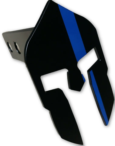 Blue Line Spartan Hitch Cover - FrontLine Designs, LLC