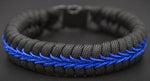 Blue Line Survival Bracelet Snake Braid