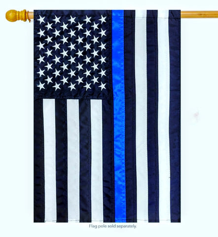 US Blue Line Porch Flag