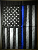 US Blue Line Nylon Garden Flag - FrontLine Designs, LLC