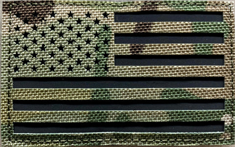 US Flag Patch Multicam Reflective