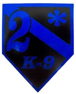 2* K-9 Reflective Decal Buy One Get One Free - FrontLine Designs, LLC