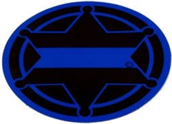 6-Point Sheriff's New Millennium Badge Reflective Decal - FrontLine Designs, LLC