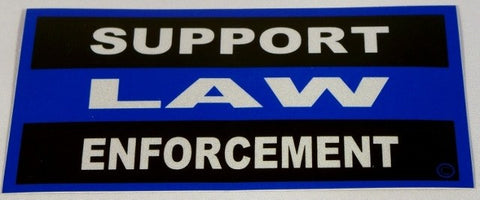 Blue Line Civilian Reflective Decal - FrontLine Designs, LLC