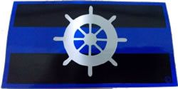 Blue Line Harbourmaster Reflective Decal - FrontLine Designs, LLC