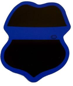 Decal - Blue Line Police Badge Decal