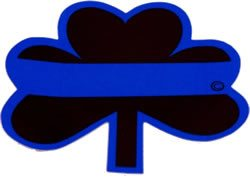 Decal - Blue Line Shamrock Reflective Decal