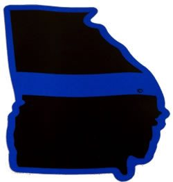 Georgia State Blue Line Decal - FrontLine Designs, LLC