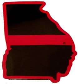Georgia State Red Line Decal - FrontLine Designs, LLC