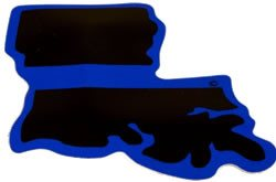 Louisiana State Blue Line Decal - FrontLine Designs, LLC