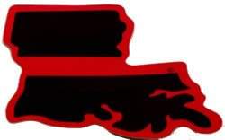 Louisiana State Red Line Decal - FrontLine Designs, LLC