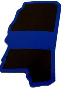 Mississippi State Blue Line Decal - FrontLine Designs, LLC