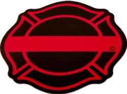 Red Line Maltese Decal - FrontLine Designs, LLC