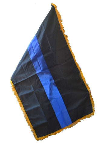 Blue Line Large Indoor / Parade Flag - FrontLine Designs, LLC