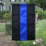 Blue Line Nylon Garden Flag - FrontLine Designs, LLC