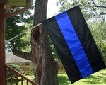Blue Line Nylon Porch Flag - FrontLine Designs, LLC