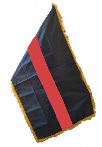 Red Line Large Indoor / Parade Flag - FrontLine Designs, LLC