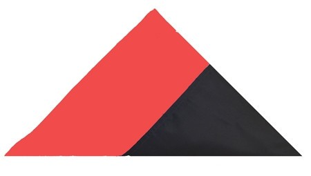 Red Line Nylon Casket Flag - FrontLine Designs, LLC